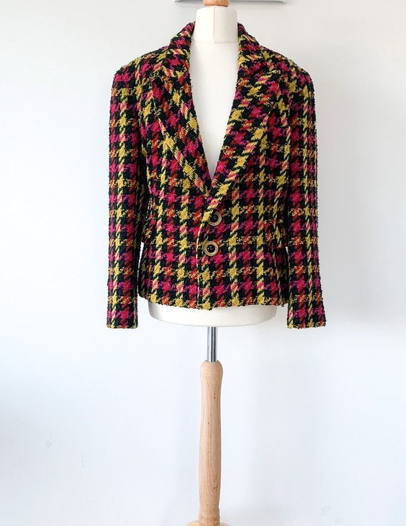 Vintage 80's Moschino colourful jacket