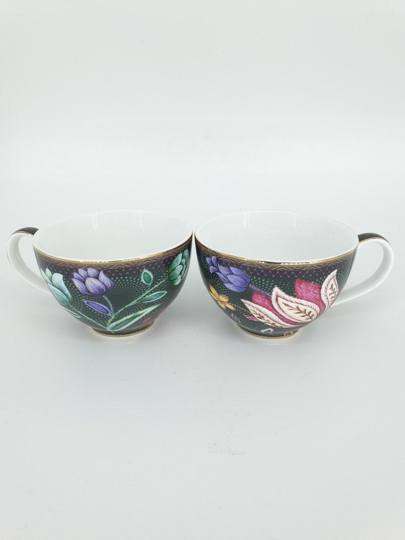ESPRESSO CUP Cup and Saucer Black Porcelain Cup Set image 0