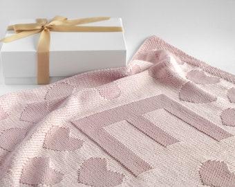 Custom baby blanket - personalized baby blanket - monogram blanket - baby name blanket - engraved baby blanket knit