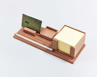 MODU-NIZER: Recycled wooden desk organizer, pencil holder, stationery set and office.