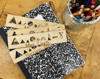 Customized Made to Order Montessori Grammar Symbols Stencil