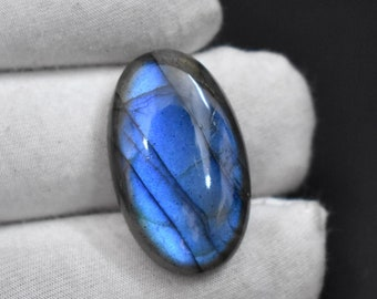 42X22X7mm 62ct A+++ Natural Multi colors Fire Labradorite Oval Shape Pendant Cabochon Smooth Labradorite gemstone for jewelry