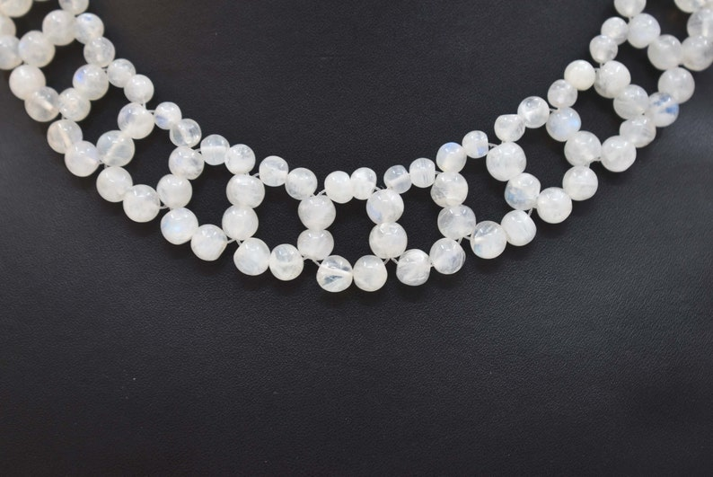 Gorgeous White rainbow Necklace 18.00 Inches Beads Shape loose gemstone Necklace Choker Necklaces Collar Necklaces Gift For Her..