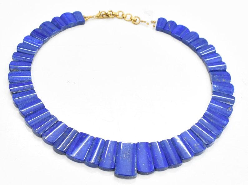 Lapis Lazuli Bead Necklace Blue Lapis lazuli Necklace Lapis Lazuli Necklace Lapis Lazuli Handmade Necklace 450 Ct 14.00 Inches