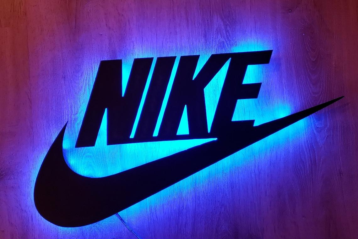 LED Lit Nike Metal Sign/Nike Sign with Lights/Bedroom/Dorm image 0
