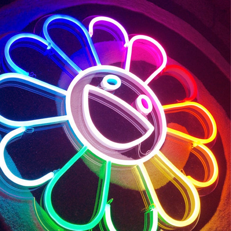 Flower by Takashi Murakami Neon Sign Hand Crafted Wall image 0