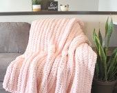 Adult Blanket Chunky Blanket Crochet Blanket Handmade