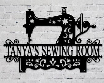 Personalized Sewing Room Sign Sewing Room Sign Craft Room Sign Personalized Gift for Seamstress Seamstress Gift Sewing Room Wall Art
