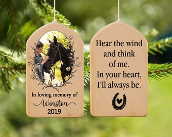 Horse Memorial Wind Chime, Horse Loss Gift, Horse Remembrance Gift, Horse Portrait Memorial, Personalized Horse Memorial Gift