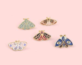Butterfly moon pins enamel pin enamel pin set pins laple pin hard enamel pin Christmas gifts Gift for her anime enamel pin