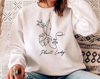 PLANT LADY SWEATSHIRT - Unisex Crewneck Sweatshirt | Plant Lady