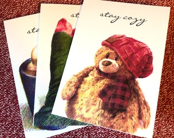 Stay Cozy Holiday Card Series