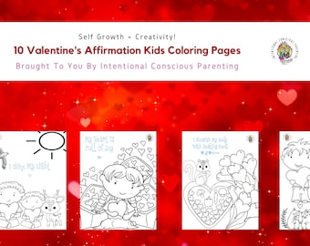 Valentine's Affirmation Kids Coloring Pages