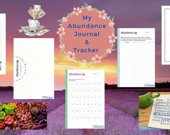 Digital Abundance Journal And Tracker l Abundance Log l Manifestation Tracker l Journaling Pages