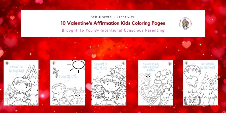 Valentine's Affirmation Kids Coloring Pages image 0