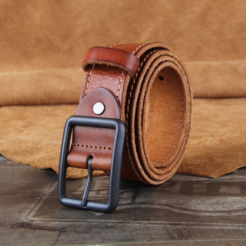 Gift For HimGift For HusbandHandmade Men/'s BeltHigh Quality Leather BeltLeather BeltMens Genuine Double Stitched Belts