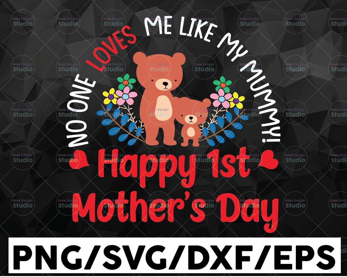 Niemand liebt mich wie meine Mama Svg Png glücklich 1. | Etsy
