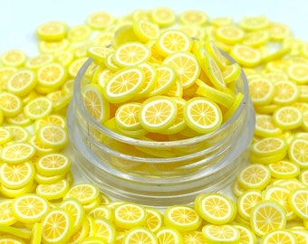 Lemon Slice clay shape glitter, Polyester Glitter, Nail art, Tumblers, Cups, Slime, Deco, Crafts, Resin Art, Glitter, summer shape, lime