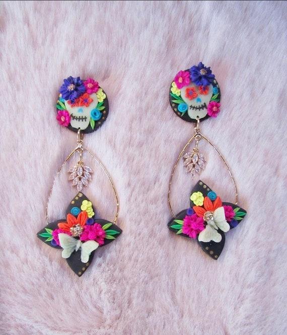 El Día de los Muertos (Day of the Dead) Earrings