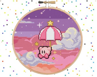 Kirby - Pastel Dreams - Video Game Kirby - Cross Stitch Pattern PDF Instant Download
