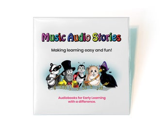 3 Story Music Audiobook CD for Children - Entertaining and fun kids, preschool, and toddler stories to boost imagination and creativity