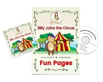 Music Audiobook (including a sing-along song) and Illustrated Booklet with Colouring-in Printable and Fun Interactive Activity for Children
