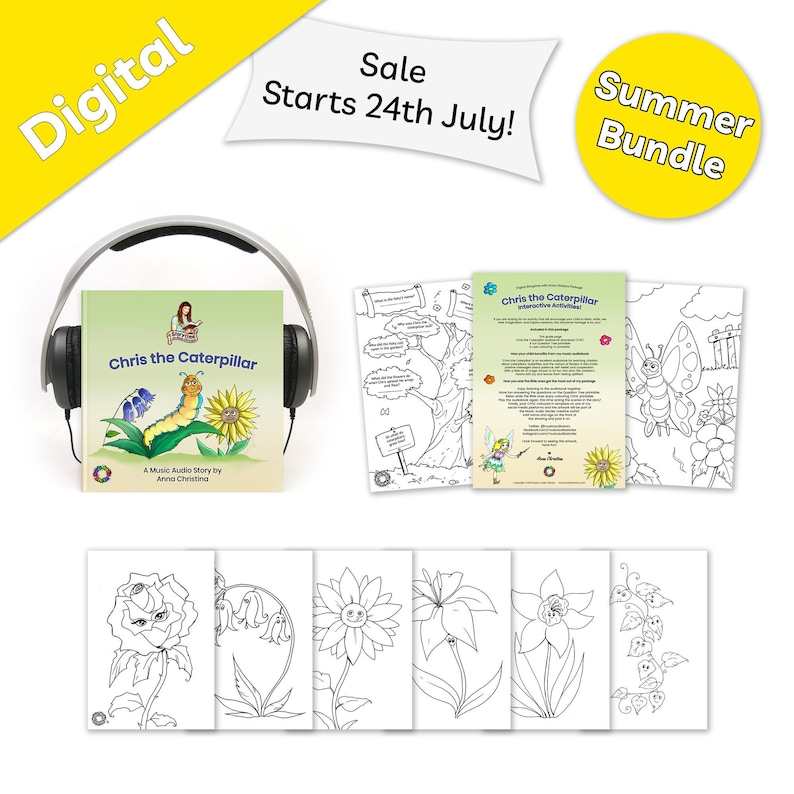 Summer Bundle  Music audiobook for children with fairy image 0