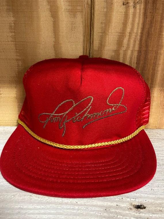 NOS Vintage Nascar Tim Richmond Signature Hat