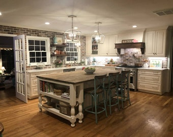 TOP ONLY Rustic Kitchen Island Top
