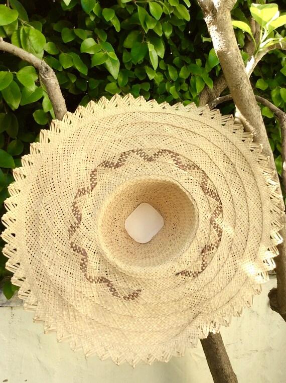 Wide Handmade Straw Bahamas Summer Hat - image 5