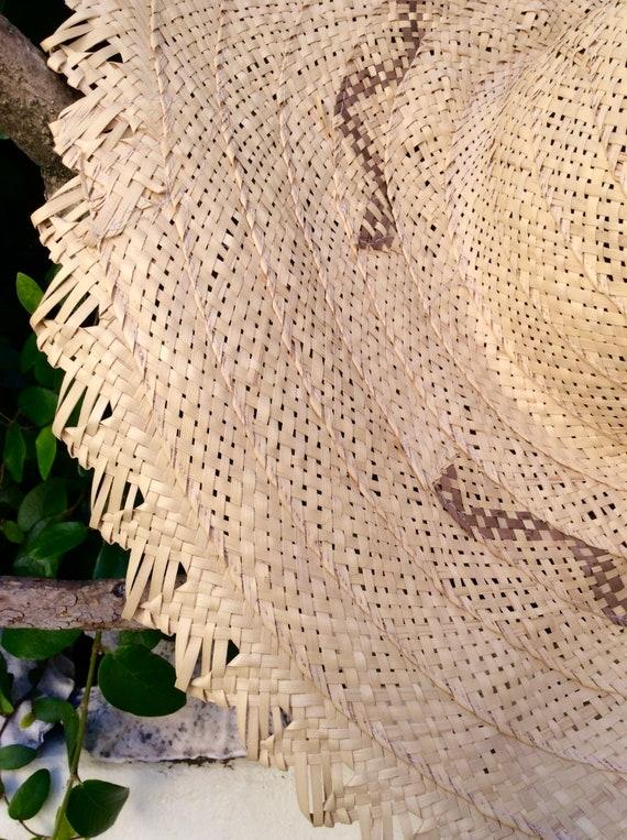 Wide Handmade Straw Bahamas Summer Hat - image 7