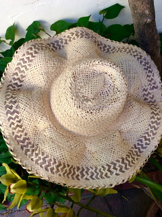 Handmade Bahamas Straw Wavy Brim Summer Hat - image 5