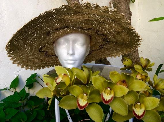 Wide Handmade Straw Bahamas Summer Hat - image 4