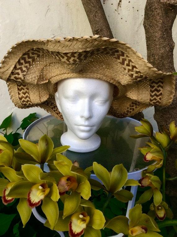 Handmade Bahamas Straw Wavy Brim Summer Hat - image 4