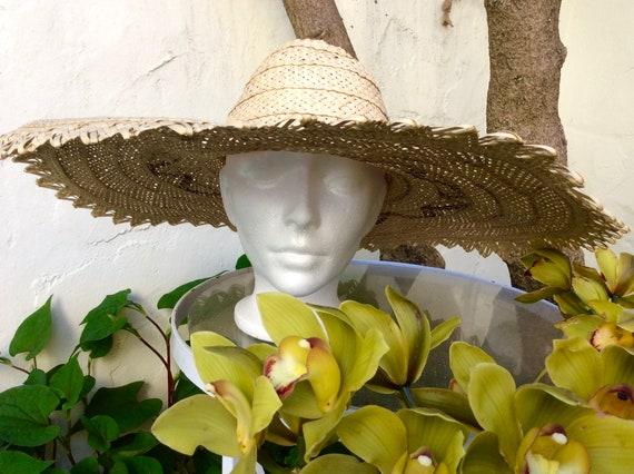 Wide Handmade Straw Bahamas Summer Hat - image 3