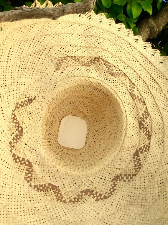 Wide Handmade Straw Bahamas Summer Hat - image 6