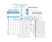 2021 Planner Printable, Daily Planner, Monthly Planner, Year at a Glance