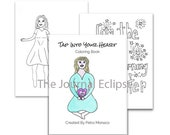 Tap Into Your Heart Coloring Book