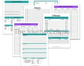 Purple Teal Blog Planner