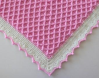 Crochet  Diamond Waffle Blanket Written Pattern | Sirin's Crochet | Instant PDF Download