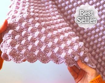 Crochet Bobble Stitch Blanket With Written Pattern | Sirin's Crochet | Instant PDF Download