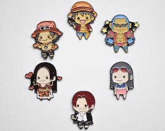 One Piece Stamp Enamel Pin
