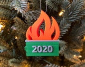 Dumpster Fire 2020 Christmas Tree Ornament