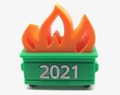 Dumpster Fire 2021 Tree Ornament