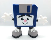 3D Printed Floppy Disk Character