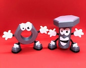 3D Printed Nutty & Bolty Characters