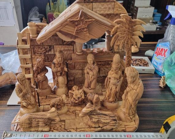 nativity ,olive wood nativity. nativity crib.nativity set ,