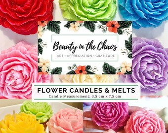 Flower Candles | Essential Oils | Floral Scents | Natural Cotton Wicks | Gift for Her | Anniversary | Birthday Gift | Home Decor