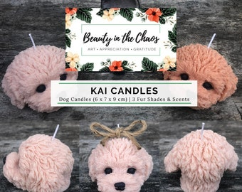 Dog (Kai) Candle | Soy Wax | Pure Essential Oils | Gift | Birthday | Anniversary | Puppy Lover | Cockapoo | Poodle | Bichon | Home Decor