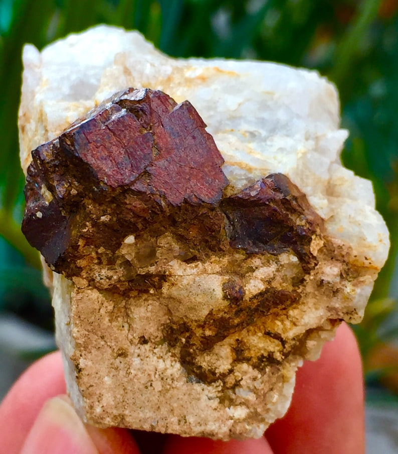 440 CTS Natural and Fantastic Red Color Garnet with Albite specimen